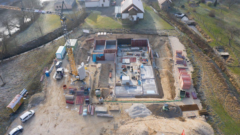Der Bau des neuen Wasserwerks Langenbrunn wird fortgeführt