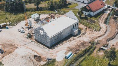 Rohbau des neuen Wasserwerks Beuron-Langenbrunn kurz vor der Fertigstellung